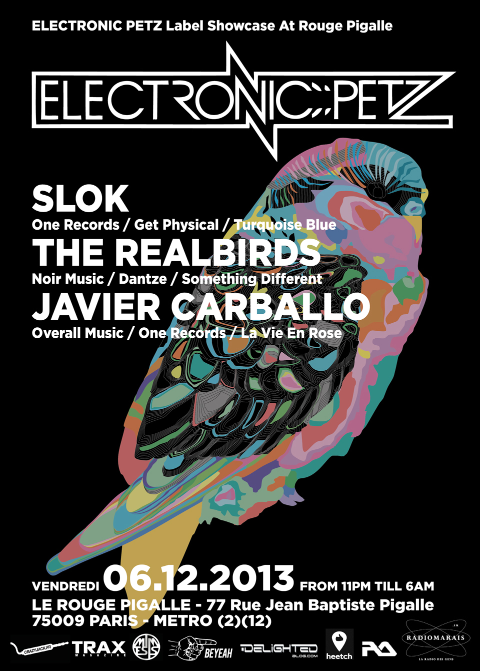 ELECTRONIC PETZ Label Showcase At Rouge Pigalle W/ SLOK, JAVIER CARBALLO, THE REALBIRDS